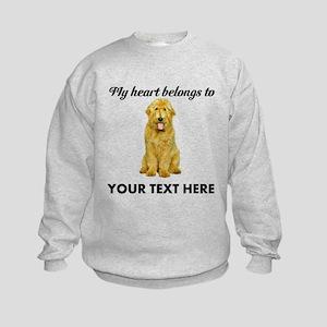 Personalized Goldendoodle Kids Sweatshirt