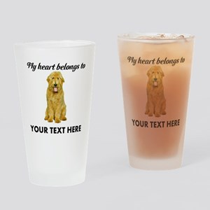 Personalized Goldendoodle Drinking Glass