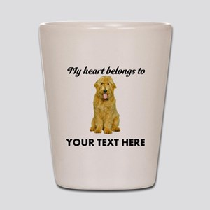 Personalized Goldendoodle Shot Glass