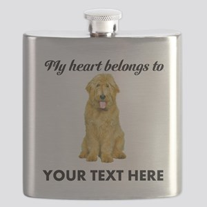 Personalized Goldendoodle Flask