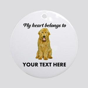 Personalized Goldendoodle Ornament (Round)