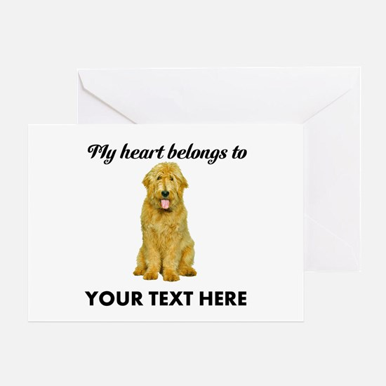 Personalized Goldendoodle Greeting Card