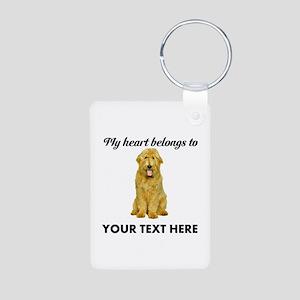 Personalized Goldendoodle Aluminum Photo Keychain