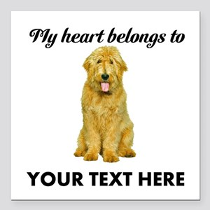 """Personalized Goldendoodl Square Car Magnet 3"""" x 3"""""""