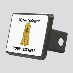 Personalized Goldendoodle Rectangular Hitch Cover