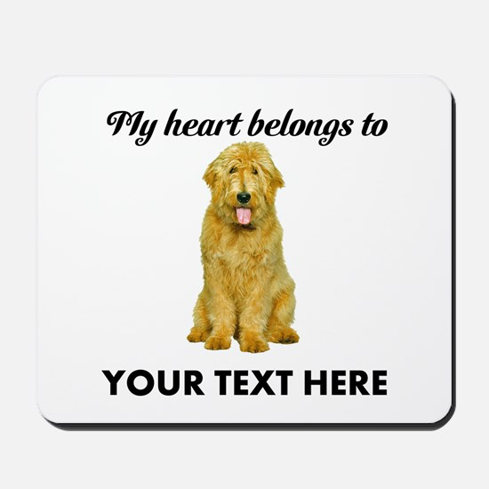 Personalized Goldendoodle Mousepad