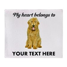 Personalized Goldendoodle Throw Blanket