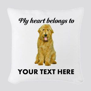Personalized Goldendoodle Woven Throw Pillow