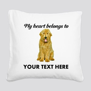 Personalized Goldendoodle Square Canvas Pillow