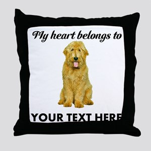 Personalized Goldendoodle Throw Pillow