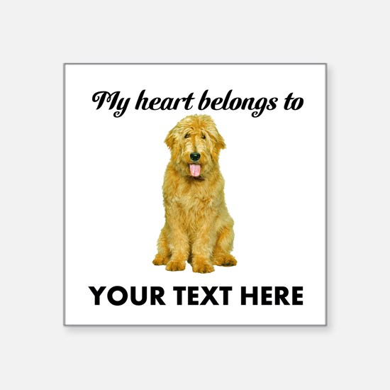 "Personalized Goldendoodle Square Sticker 3"" x 3"""