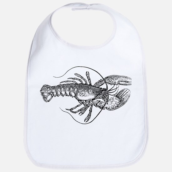Vintage Lobster illustration Bib