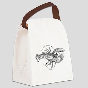 Vintage Lobster illustration Canvas Lunch Bag