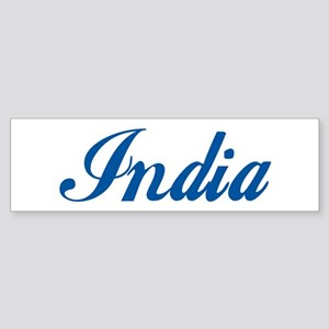 India (cursive) Bumper Sticker