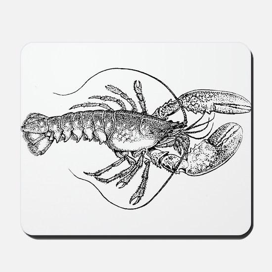 Vintage Lobster illustration Mousepad