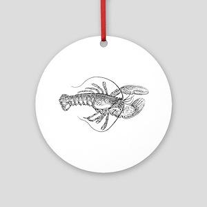 Vintage Lobster illustration Ornament (Round)