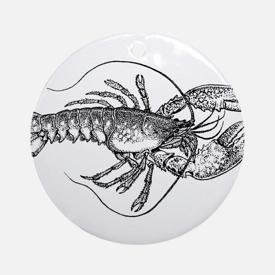 Vintage Lobster illustration Ornament (Round)
