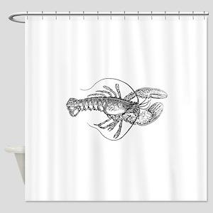 Vintage Lobster illustration Shower Curtain