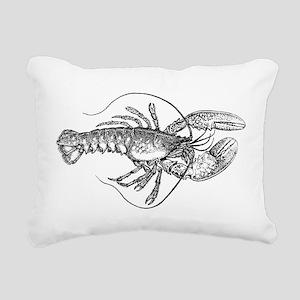 Vintage Lobster illustra Rectangular Canvas Pillow