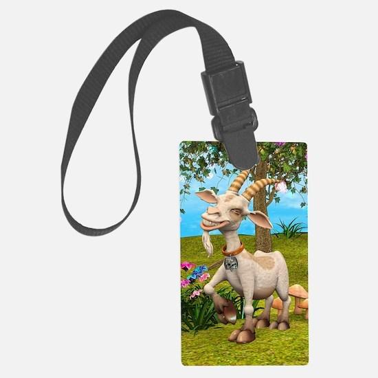 Happy Goat Luggage Tag