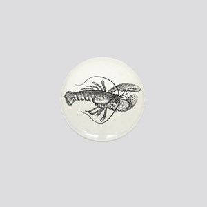 Vintage Lobster illustration Mini Button