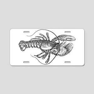 Vintage Lobster illustratio Aluminum License Plate