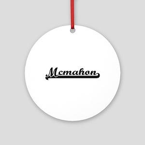 Mcmahon surname classic retro des Ornament (Round)