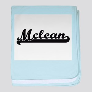 Mclean surname classic retro design baby blanket