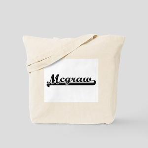 Mcgraw surname classic retro design Tote Bag