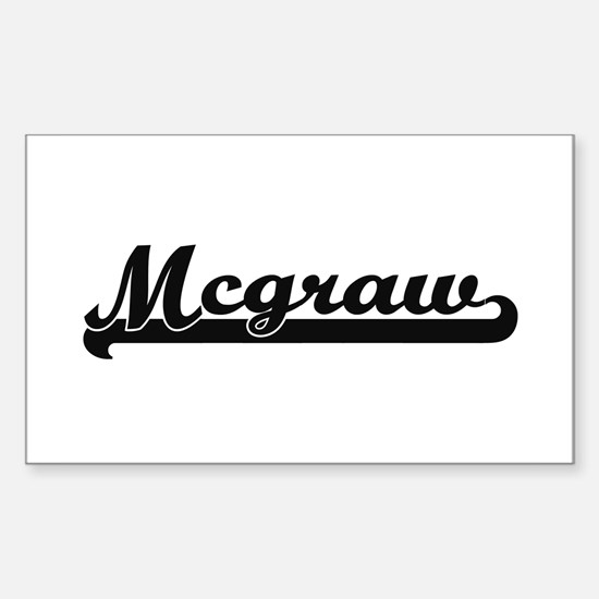 Mcgraw surname classic retro design Decal