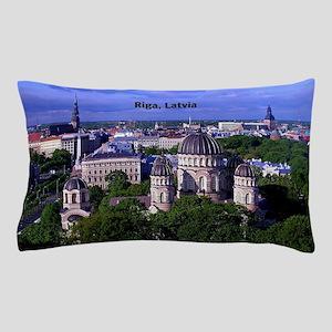 Riga, Latvia cityscape photograph Pillow Case