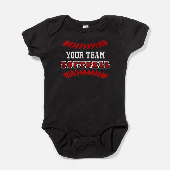 YOUR TEAM SOFTBALL LACES Baby Bodysuit