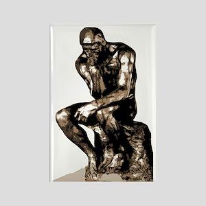 Rodin Thinker Remake Rectangle Magnet
