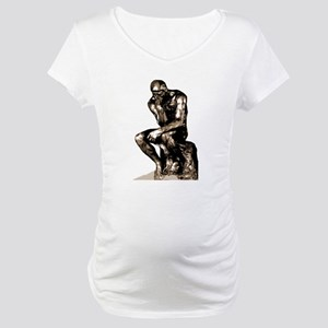 Rodin Thinker Remake Maternity T-Shirt