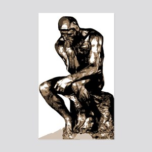 Rodin Thinker Remake Rectangle Sticker
