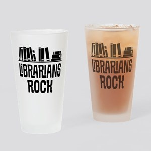 Librarian Book Gift Idea Drinking Glass