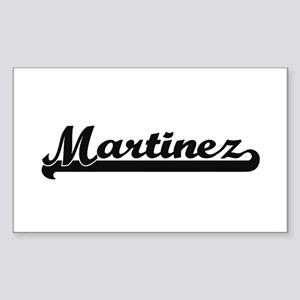 Martinez surname classic retro design Sticker