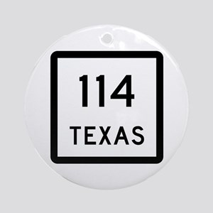 State Highway 114, Texas Ornament (Round)