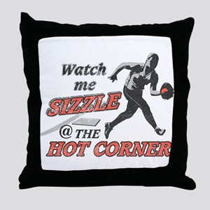 Softball Hot Corner Sizzle! Throw Pillow