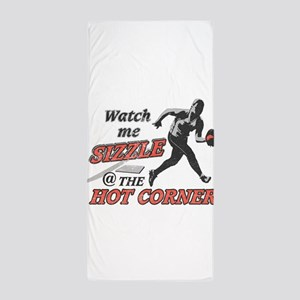 Softball Hot Corner Sizzle! Beach Towel