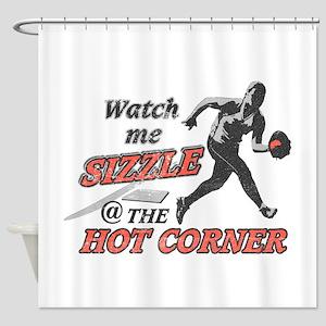 Softball Hot Corner Sizzle! Shower Curtain