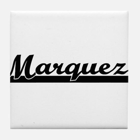Marquez surname classic retro design Tile Coaster