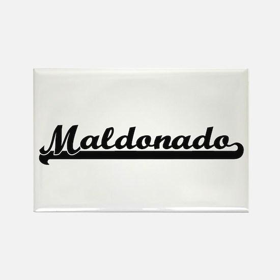 Maldonado surname classic retro design Magnets