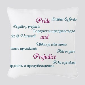 Pride and Prejudice Woven Throw Pillow