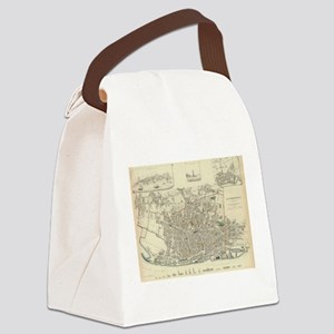 Vintage Map of Liverpool England Canvas Lunch Bag