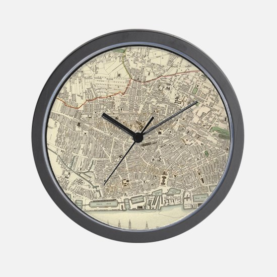 Vintage Map of Liverpool England (1836) Wall Clock