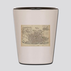 Vintage Map of Liverpool England (1836) Shot Glass