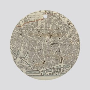 Vintage Map of Liverpool England Ornament (Round)