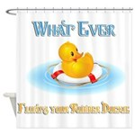 What Ever Floats Your Rubber Duckie Shower Curtain