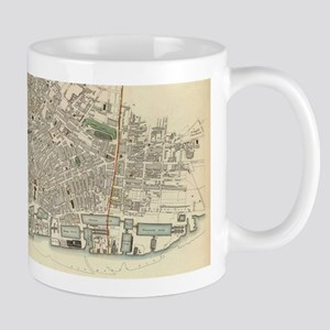 Vintage Map of Liverpool England (1836) Mugs